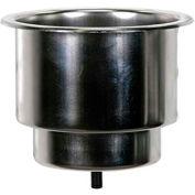 Whitecap Flush Mount Cupholder, Stainless Steel - S-3511