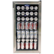 "Whynter BR-130SB - Beverage Refrigerator, Stainless Steel, Internal Fan, 120 Cans Capacity, 33""H"