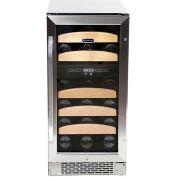 Whynter BWR-281DZ - Wine Refrigerator Built-In Dual Temperature Zone, 28 Bottle Capacity