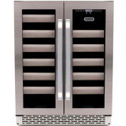 Whynter BWR-401DS - Elite Refrigerator, Stainless Steel Door, Dual Zone Built-in, 40 Wine Bottles