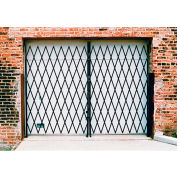 Double Folding Security Gate 12'W x 7-1/2'H In Use