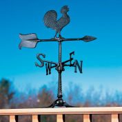 "24"" Rooster Accent Weathervane, Black"