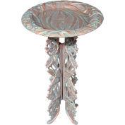 Butterfly Birdbath & Pedestal, Copper Verdigris