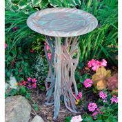 Dragonfly Birdbath & Pedestal, Copper Verdigris