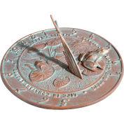 Frog Sundial, Copper Verdigris