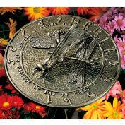 Dragonfly Sundial, French Bronze