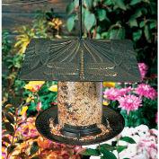 "6"" Dragonfly Tube Bird Feeder, French Bronze"