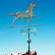 Copper Horse Weathervane, Verdigris