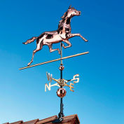 Copper Horse Weathervane, Polished