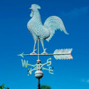 Copper Rooster Weathervane, Verdigris