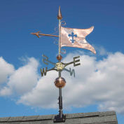 Copper Banner Weathervane, Polished