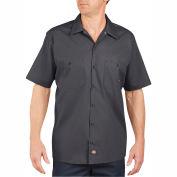 Dickies® Men's Short Sleeve Industrial Work Shirt, 3T Charcoal - LS535CH