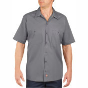 Dickies® Men's Short Sleeve Industrial Work Shirt, S Graphite Gray - LS535GG