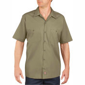 Dickies® Men's Short Sleeve Industrial Work Shirt, L Desert Sand - LS535DS