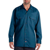 Dickies® Men's Long Sleeve Work Shirt, 2X Navy - 574NV