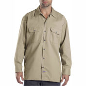 Dickies® Men's Long Sleeve Work Shirt, 4T Khaki - 574KH