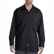 Dickies® Men's Long Sleeve Work Shirt, XL Black - 574BK
