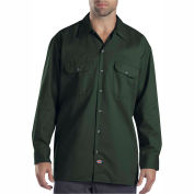 Dickies® Men's Long Sleeve Work Shirt, L Hunter Green - 574GH