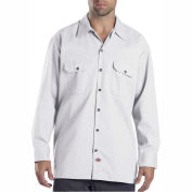 Dickies® Men's Long Sleeve Work Shirt, 3X White - 574WH