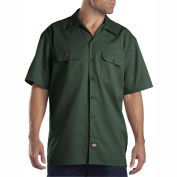 Dickies® Men's Short Sleeve Work Shirt, 3X Hunter Green - 1574GH
