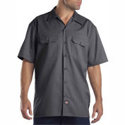 Dickies® Men's Short Sleeve Work Shirt, 3X Charcoal - 1574CH