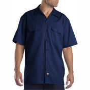 Dickies® Men's Short Sleeve Work Shirt, XL Dark Navy - 1574DN
