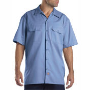 Dickies® Men's Short Sleeve Work Shirt, 2X Gulf Blue - 1574GB