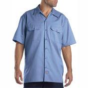 Dickies® Men's Short Sleeve Work Shirt, 4X Gulf Blue - 1574GB
