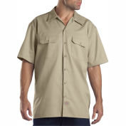 Dickies® Men's Short Sleeve Work Shirt, XL Khaki - 1574KH