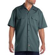 Dickies® Men's Short Sleeve Work Shirt, L Lincoln Green - 1574LN