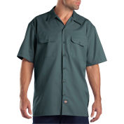 Dickies® Men's Short Sleeve Work Shirt, 4X Lincoln Green - 1574LN