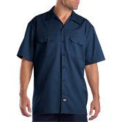 Dickies® Men's Short Sleeve Work Shirt, M Navy - 1574NV