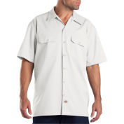 Dickies® Men's Short Sleeve Work Shirt, 3X White - 1574WH