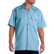 Dickies® Men's Short Sleeve Work Shirt, 3X Light Blue - 1574LB