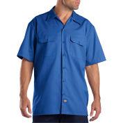 Dickies® Men's Short Sleeve Work Shirt, 2X Royal Blue - 1574RB