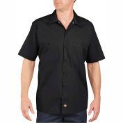 Dickies® Men's Short Sleeve Industrial Work Shirt, L Black - LS535BK