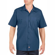 Dickies® Men's Short Sleeve Industrial Work Shirt, 2X Navy - LS535NV