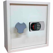 "Wilson Safe Key Safe Cabinet KC-100 Electronic Lock - 9-1/2""W x 17""D x 22""H, Gray"