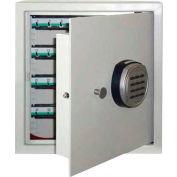 "Wilson Safe Key Safe Cabinet KC-64 Electronic Lock - 13-1/2""W x 7-1/4""D x 14-1/2""H, Gray"