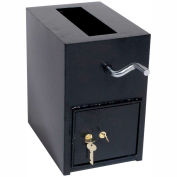 "Wilson Safe Depository Safe RH13K Dual Key Lock - 14-1/4""W x 8-1/4""D x 13""H, Black"