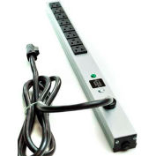 Wiremold 2008BCS20R Surge Strip, 600V, (8) 20A Outlets, 6' Cord