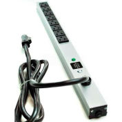 Wiremold 2008BDS20R Surge Strip, 600V, (8) 20A Outlets, 15' Cord