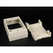 """Wiremold 2347-Wh 1-Gang Device Box, White, 4-3/4""""L - Pkg Qty 10"""