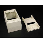"Wiremold 2348 1-Gang Deep Device Box, Ivory, 4-3/4""L - Pkg Qty 10"