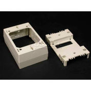 "Wiremold 2348d-Wh 1-Gang Divided Device Box, White, 4-3/4""L - Pkg Qty 10"