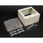 "Wiremold 2444-2fw 2g Ext Deep Device Box, Fog White, 4-3/4""L - Pkg Qty 10"