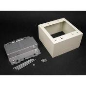"Wiremold 2444-2lsfw 2g Device Box, Fog White, 4-3/4""L - Pkg Qty 10"