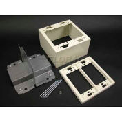 """Wiremold 2444d-2afw 2g Divided Device Box, Fog White, 4-3/4""""L - Pkg Qty 10"""