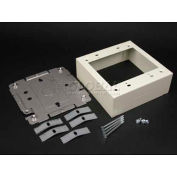 "Wiremold 2448-2FW 2g Device Box, Fog White, 4-3/4""L"
