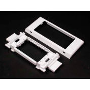 """Wiremold 5450t Twin Snap Cover Device Brkt And Trim Ring, Ivory, 2-1/2""""L - Pkg Qty 5"""